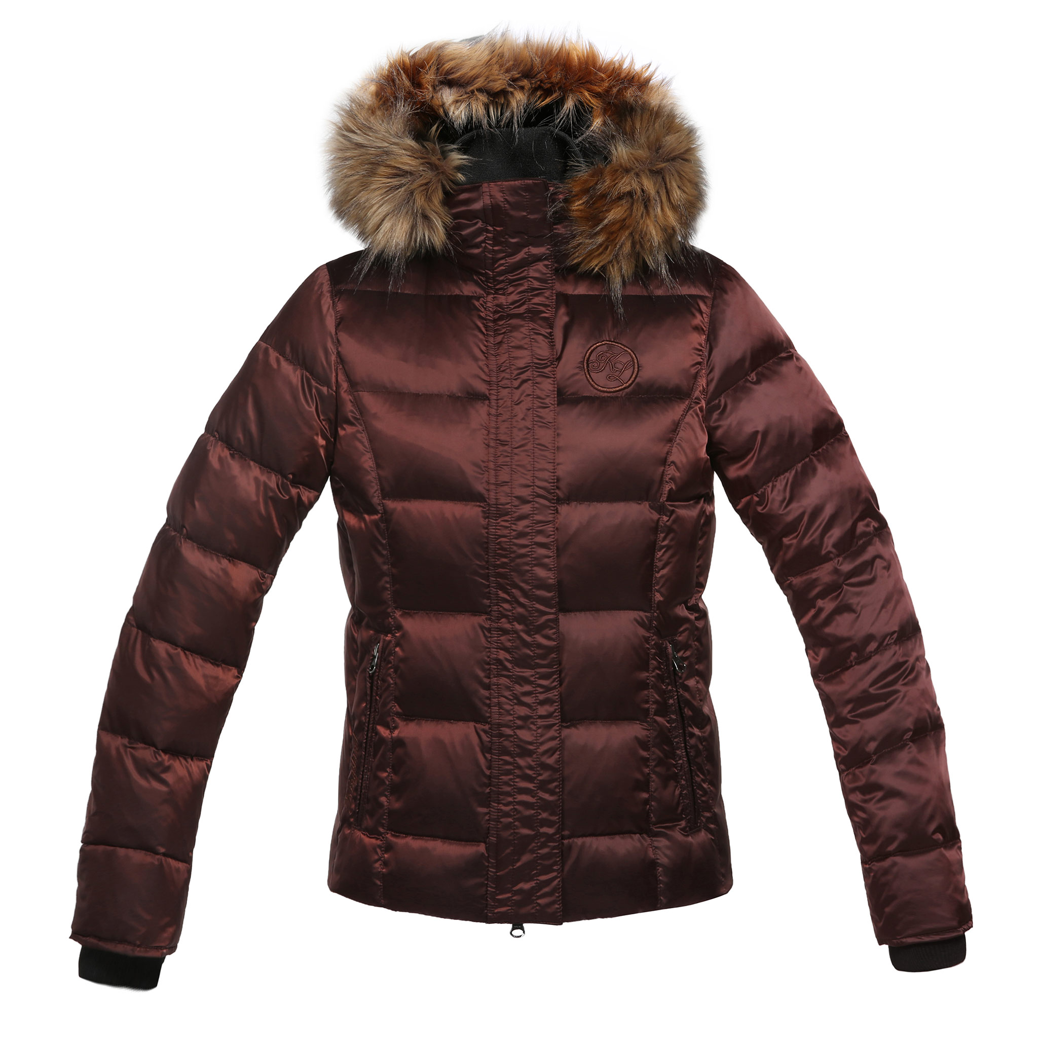 KINGSLAND FLICKA LADIES DOWN BROWN JACKET