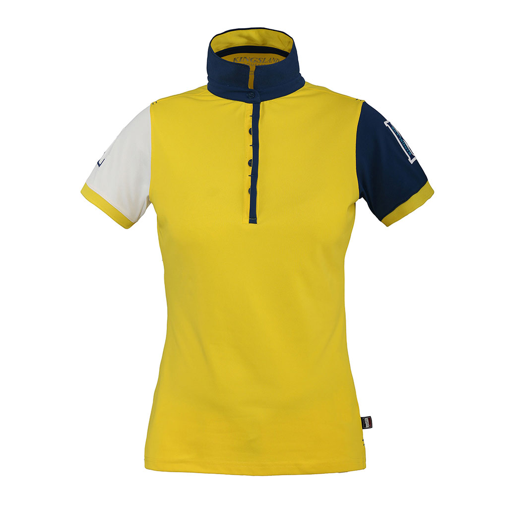 4164917f24a6ac KINGSLAND TERMINE LADIES YELLOW POLO SHIRT – EFO Equestrian